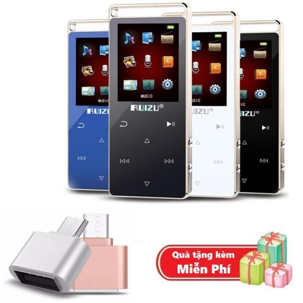 ( Quà tặng Đầu OTG cho điện thoại Android ) Máy nghe nhạc MP3 RUIZU D01 Bộ nhớ trong 8GB hỗ trợ thẻ nhớ tối đa 128GB