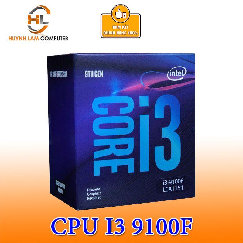CPU Intel Core I3-9100F 4 Cores - 4 Threads 3.60 GHz LGA 1151-v2 Box Hãng Phân Phối Cùng Giá Khuyến Mãi Hot