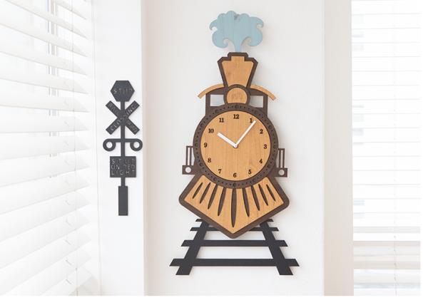 Nơi bán Đồng hồ treo tường, đồng hồ treo tường trang trí nhà cửa không ồn khi đi tàu hỏa P00000ET
