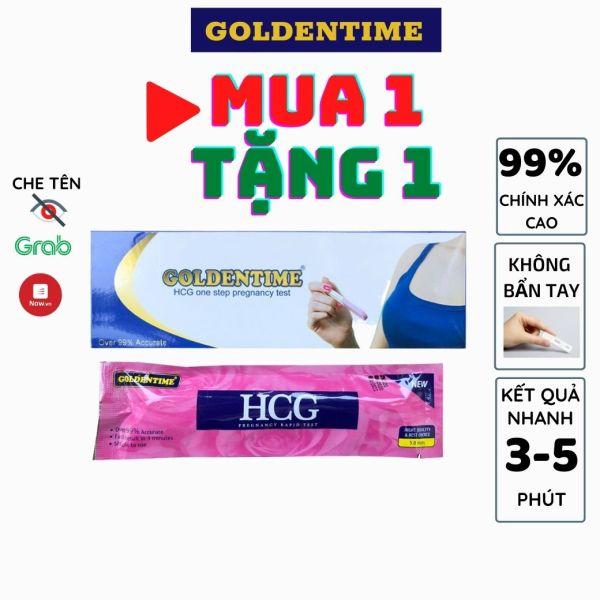 Que thử thai bút thử thai Goldentime test nhanh độ chính xác cao của 5mm 1 bút/hộp cho kết quả sau 3-5 phút