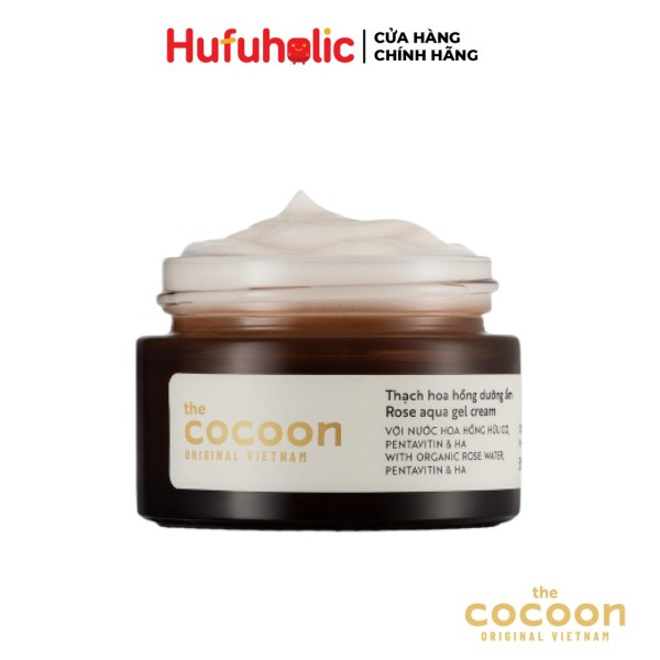 Thạch hoa hồng COCOON dưỡng ẩm Rose Aqua Gel Cream 30ml 100ml COCN09 COCN18