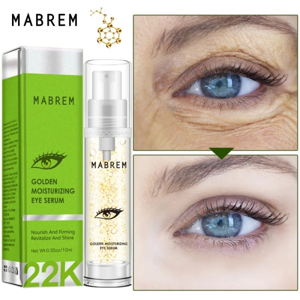 MABREM 22k Golden Eye Serum Moisturizing Anti-Wrinkle Anti-Age Hyaluronic Acid Remover Dark Circles Against Puffiness And Bags giá rẻ