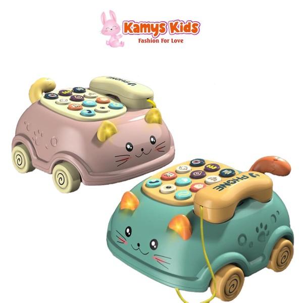 Giá bán Điện thoại đồ chơi trẻ em KAMYS KIDS hình mèo dễ thương cho bé