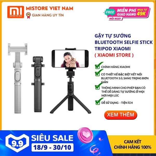【FREESHIP XTRA】[CHÍNH HÃNG] Gậy chụp hình Xiaomi Selfie Stick Tripod Bluetooth 3 chân Đen tính năng thông minh I Tiện dụng CHÍNH HÃNG XIAOMI - Mistore Việt Nam