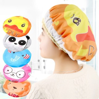 Mũ ủ tóc gấu trúc , mũ ủ tóc nhiều màu ngộ nghĩnh , mũ trùm ủ tóc , mũ trùm đầu ủ tóc chống thấm nước khi tắm thumbnail