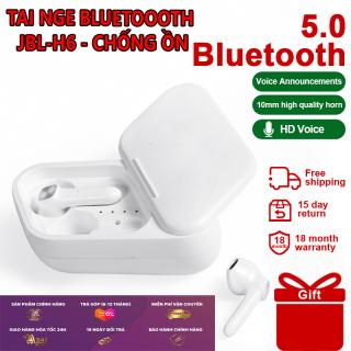 ( BLUETOOTH CHỐNG ỒN ) Tai nghe Bluetooth 5.0 Jbl H6 Tws . Tai nghe chống thấm mồ hôi , Cốc sạc đa năng tiện lợi cho thời gian sử dụng 4h liên tục thumbnail