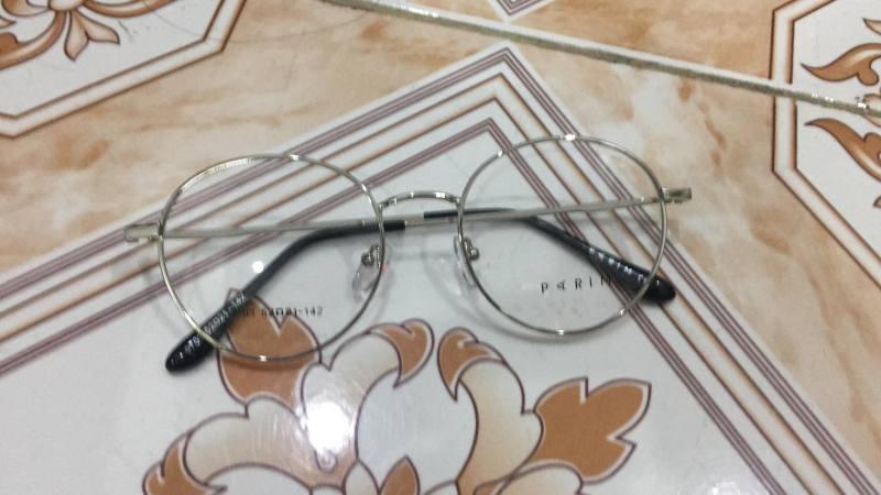 Giá bán Gọng kính kim loại tròn PARIM Nam - Nữ màu trắng