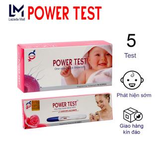 COMBO 3 Bút thử phát hiện thai sớm POWERTEST + TẶNG 5 Que thử rụng trứng - Bút thử thai phát hiện thai sớm cho kết quả nhanh, chính xác và đảm bảo - Bút Thử Thai chính hãng giá tốt thumbnail