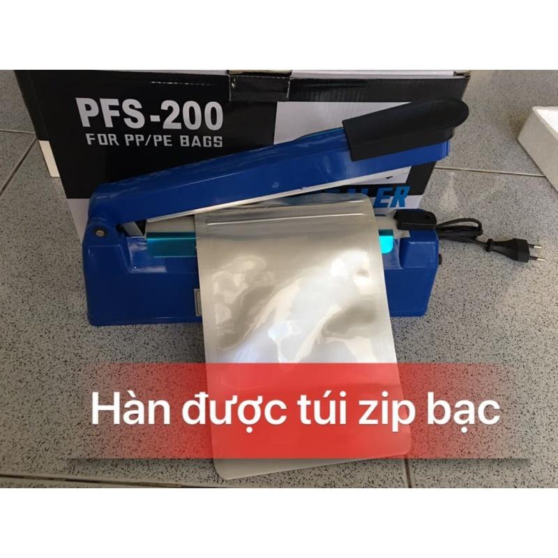 Máy hàn miệng túi 20cm VỎ NHỰA- máy cắt màng co- máy ép túi nilon 20cm- tặng kèm dây nhiệt