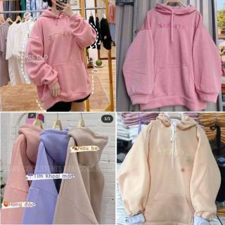 Áo Hoodie Amaste Siêu Xinh Nỉ Bông Form Rộng H&H CLOTHES - Áo Hoodie Nữ Chất Liệu Không Xù Đủ Size Lựa Chọn -Áo Nữ Kèm Ảnh Thật thumbnail