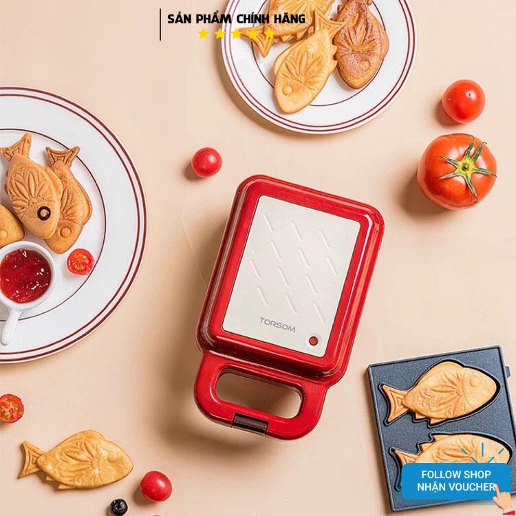 Máy Nướng Bánh Mì Kẹp TORSOM - Máy Làm Bánh Mỳ Sandwich - Máy Làm Bánh Hình Thú Mini- Máy Rán Trứng Làm Đồ Ăn Sáng - Máy Nướng Thịt 2 Mặt - Máy Làm Bánh Hotdog Nhật Bản Không Dính - Lò Nướng. KÈM VIDEO ẢNH THẬT