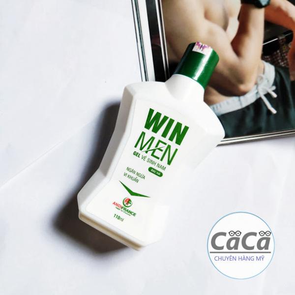 Dung dịch vệ sinh nam Gel Winmen 110ml chai trắng hương bạc hà - Kháng khuẩn khử mùi cho nam giới cao cấp