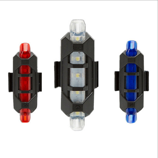 Đèn led phía sau xe đạp leo núi sạc USB giúp cảnh báo ban đêm