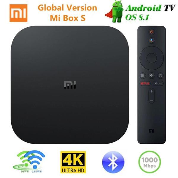 Bảng giá Xiaomi MI TV BOX S Smart 4K ( Bản Tiếng Việt ) Ultra HD 2G 8G Android 8.0 Movie WIFI Google Cast Netflix Red Bull Media Player Set-top Box