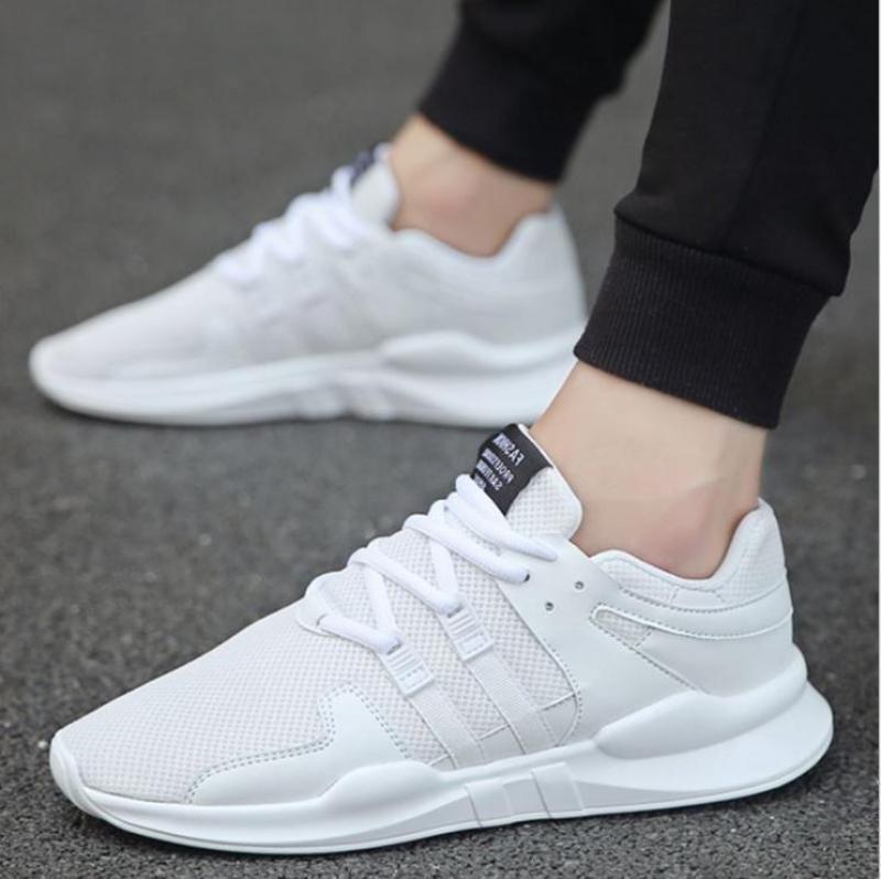 Minh Nhân - Giày lưới Giày thể thao nam thoáng khí  Giày chạy nam TT-20,màu trắng