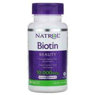 Viên Uống Mọc Tóc Natrol Biotin 10000 Mcg Của Mỹ 100 Viên thumbnail