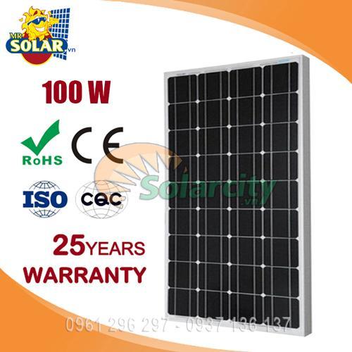 Pin năng lượng mặt trời mono 100w SOLARCITY