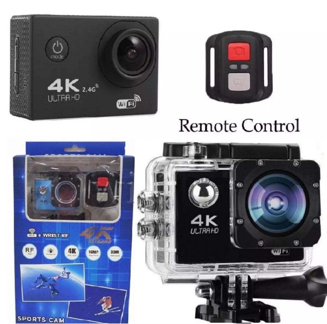 Camera hành trình 4K  phát Wf kết nối xem trên điện thoại , kèm điều khiển từ xa (remote) tặng kèm pin sơ cua 900mAh Nhật Bản