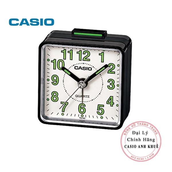 Nơi bán Đồng hồ để bàn - du lịch Casio TQ-140-1BDF có báo thức, dạ quang ( Kích thước 5.7 x 5.7 cm)