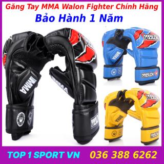 Găng Tay MMA Võ Thuật - Găng Tay MMA Hở Ngón Walon Fighter Cao Cấp - Thiết bị tập luyện boxing, kickboxing, mma, đối kháng dành cho dân chuyên nghiệp, phòng tập, võ đường thumbnail