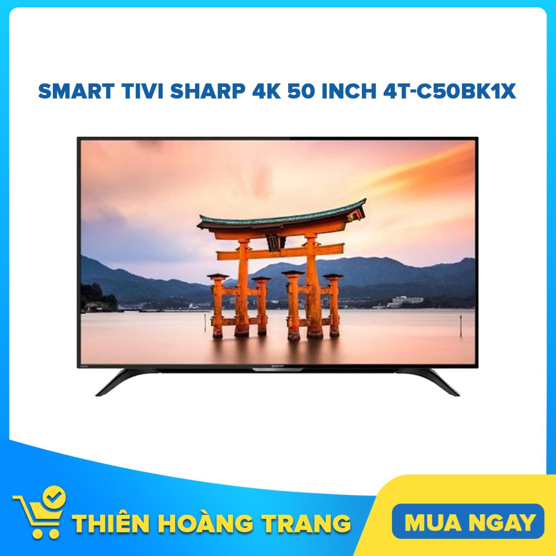 Bảng giá Smart Tivi Sharp 4K 50 inch 4T-C50BK1X