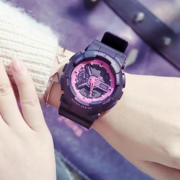 Đồng hồ thể thao nam nữ Shhors Sport watch dây cao su size bán chạy