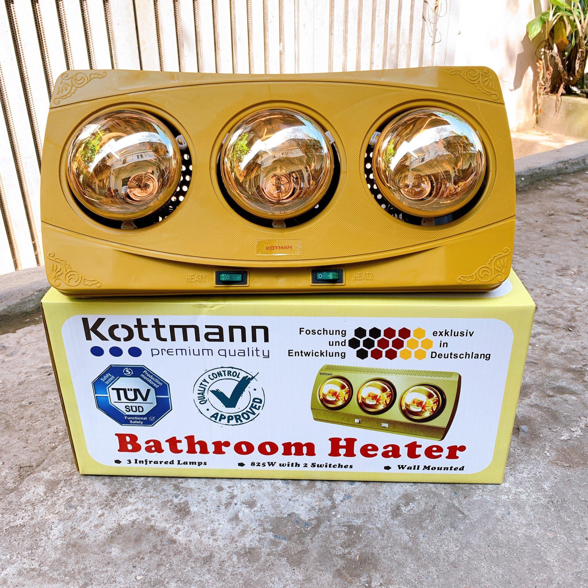 Đèn Sưởi Nhà Tắm 3 Bóng Kottman, Đèn Sưởi Treo Tường Cho Bé, Đèn Sưởi 3 Bóng Kottman Giữ Ấm Cho Mùa Đông