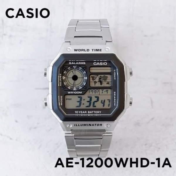 Đồng hồ nam Casio AE 1200-WHD classic chống nước, dây cao su mềm mại, chống nước - Chiller-store