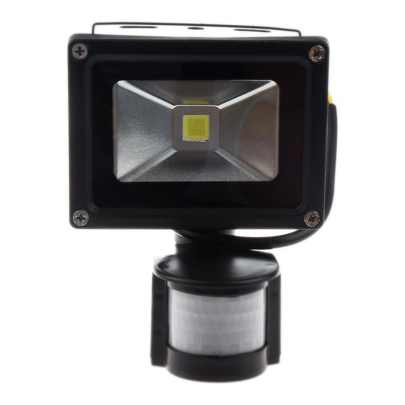 PIR Motion Sensor Security Wall Pure White LED Waterproof Flood Light Lamp 10W