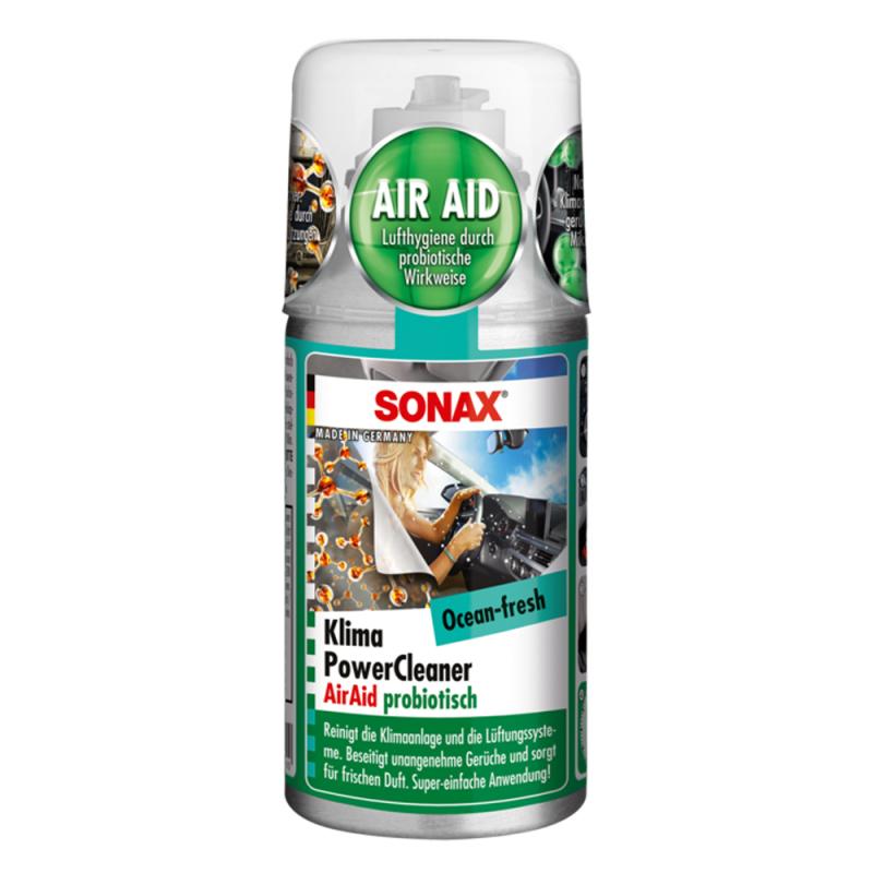 Khử Mùi Điều Hòa Ô Tô Sonax Car A/C Cleaner Ocean-Fresh 100ml