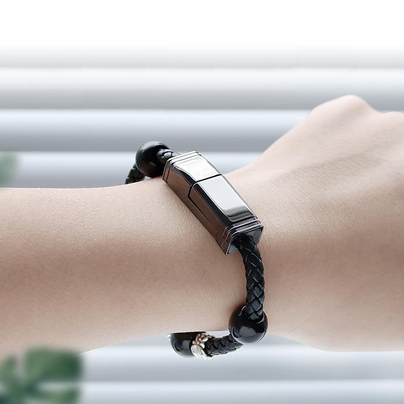 Dây sạc vòng đeo tay ⚡️TIỆN LỢI⚡️ Đính đá thời trang Tùy chọn cho từng dòng điện thoại Tốc độ cao Ổn định Lõi đồng 100%