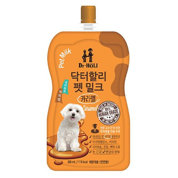 Sữa nước cho chó mèo tăng sức đề kháng Dr. Holi Pet Milk Caramel 200ml