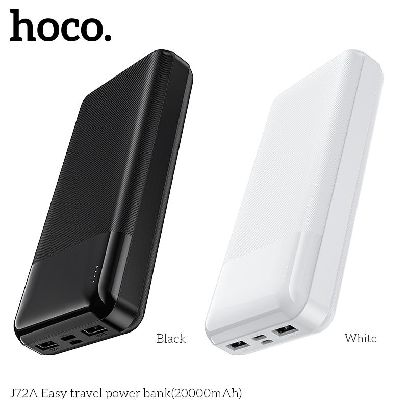 HOCO 20000mAh sạc dự phòng Quick Charge  PD+QC Micro/Type-C 10W for Samsung iPhone Huawei Xiaomi. J72A-20000 củ sạc nhanh/Sạc dự phòng  Thông dụng
