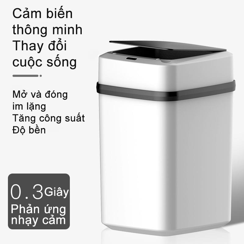 【like-】Thùng rác nhà thông minh, cảm ứng tự động, có nắp, phân loại rác, thùng rác thông minh (bạn cần mua pin AA)