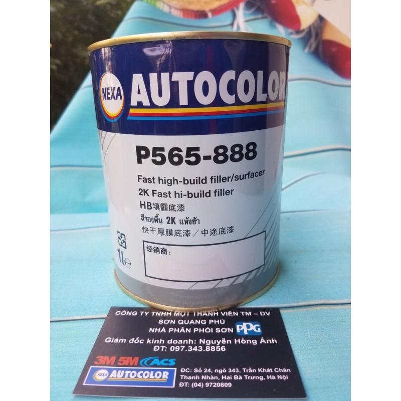 P565-888 Sơn lót 2K màu xám cao cấp Nexa Autocolor lon 1L