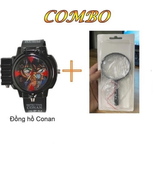 Đồng hồ trẻ em Conan đeo tay bắn laser và kính lúp thám tử conan bán chạy