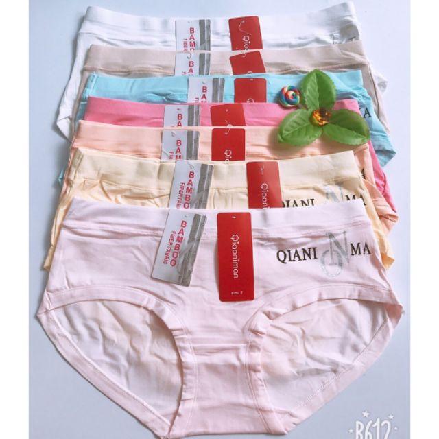 [HCM]Bộ 5 quần lót Bigsize cho các bạn trên 58kg chất liệu cotton thiết kế độc đáo hoa văn in nổi