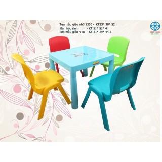 GIÁ HỦY DIỆT Bộ bàn ghế học sinh Việt Nhật (1 bàn+2 ghế) thumbnail