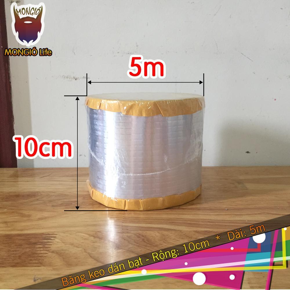 10cm x 5m - Băng keo dán chống thấm mái - 10cm x 5m (Màu Bạc vuông)