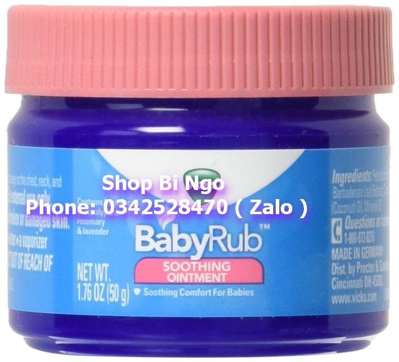 Dầu bôi chống ho và cảm lạnh Vicks BabyRub 50g