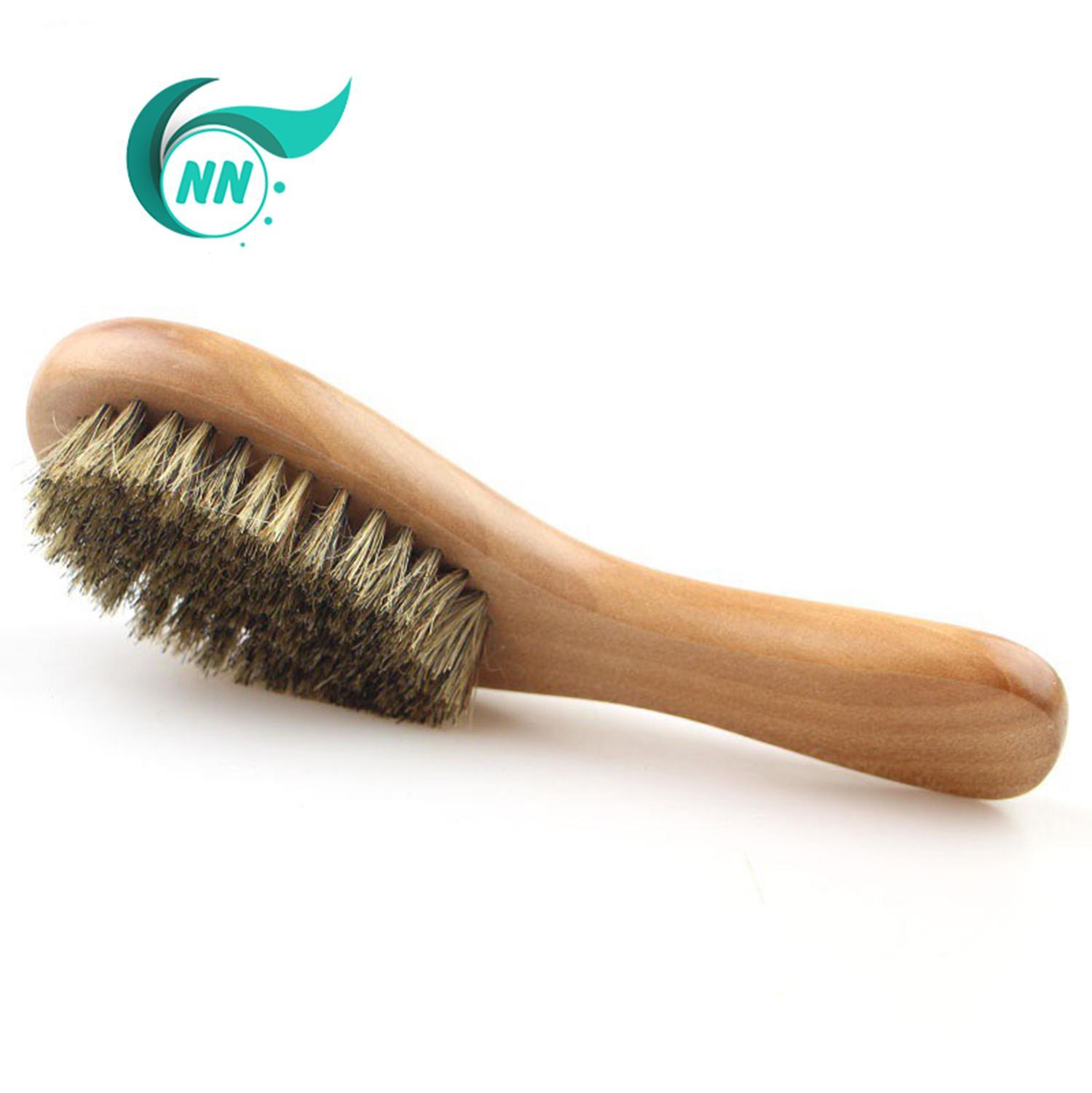 Bàn chài tóc cán gỗ lông con heo rừng chính hãng