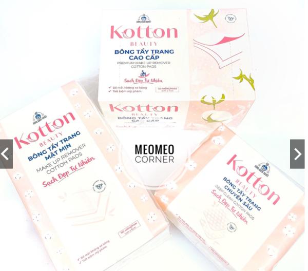 Bông tẩy trang Kotton Beauty Bông Bạch Tuyết cao cấp