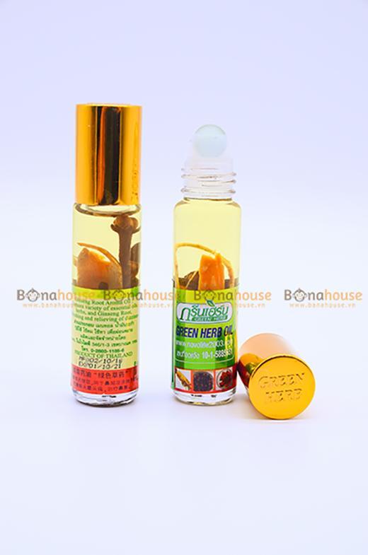 Dầu Nhân Sâm Ginseng Green Herb Oil 8ml chính hãng
