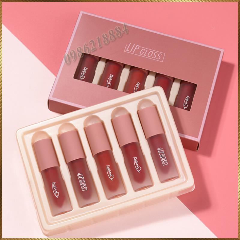 Bộ son kem nhung Kasumi Lip Gloss 5 lọ KLG5 tốt nhất