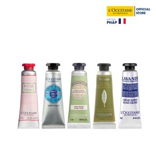 Bộ 5 tuýp kem dưỡng tay L Occitane Hand Cream Set 10ml tuýp thumbnail
