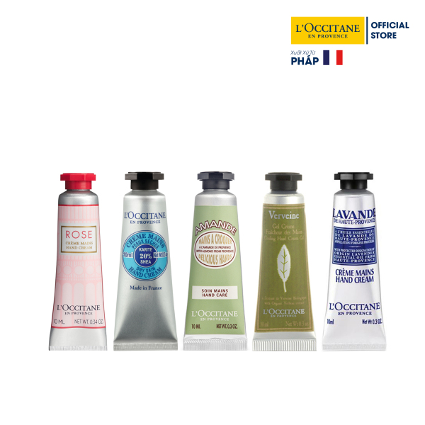 Bộ 5 tuýp kem dưỡng tay LOccitane Hand Cream Set 10ml/tuýp cao cấp