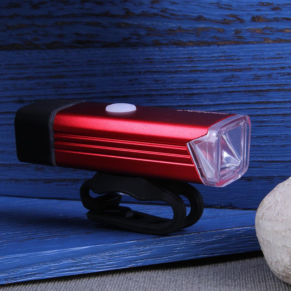USB Sạc Hợp Kim Nhôm Xe Đạp Trước Ánh Sáng Đèn LED Đèn Pha  (Màu Xám)-quốc Tế (Xám) Đang Giảm Giá