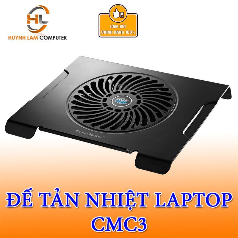 Đế quạt tản nhiệt laptop Cooler Master CMC3 hỗ trợ laptop 14inch đến 15inch hãng phân phối