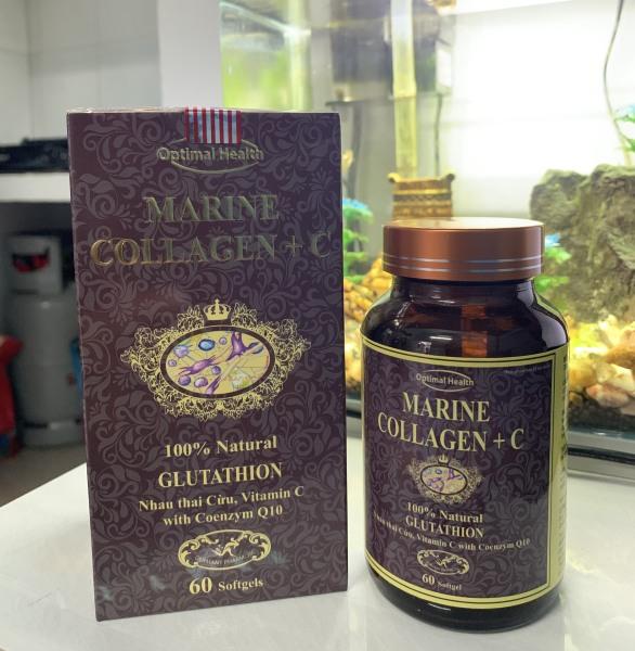 Viên uống đẹp da Collagen +C giảm thâm nám tàn nhang ngừa nếp nhăn chống lão hóa - Hộp 60 viên Xám Chính hãng giá rẻ