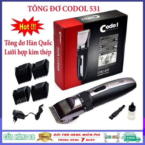 (Bảo hành chính hãng 1 năm) Tông đơ cắt tóc Hàn Quốc chuyên nghiệp không dây Codol 531, tăng đơ, tăng đơ hớt tóc (tong do cat toc) gia đình, trẻ em, người lớn đẳng cấp, tinh tế, sang trọng giá rẻ